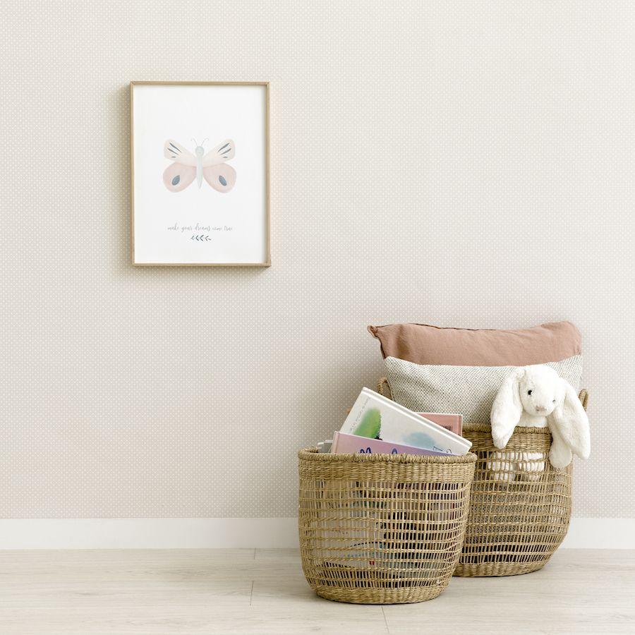 Baby wallpaper grigio