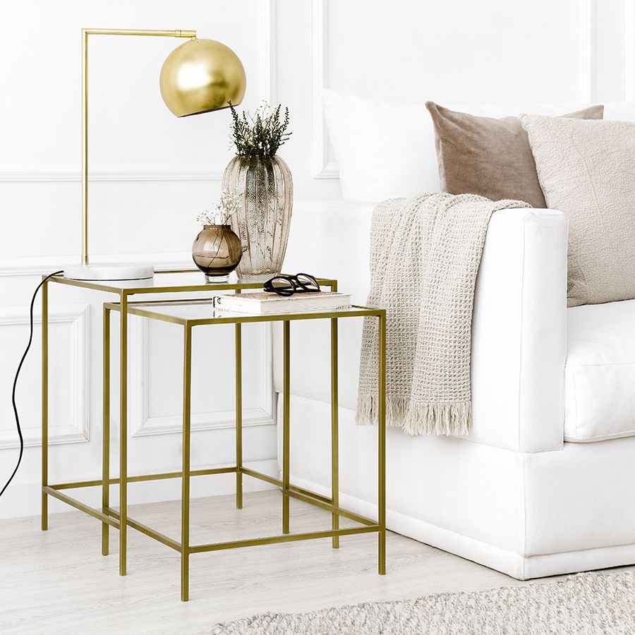 Gold set tavoli ad incastro